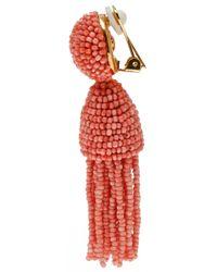 Oscar de la Renta | Red Short Tassle Earrings | Lyst