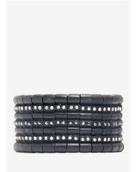 Philippe Audibert | Black Crystal-row Bracelet | Lyst