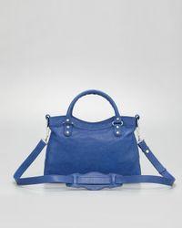 Lyst - Balenciaga Womens Giant 12 Nickel Town Bag Bluete in Blue 38d8373835fe5