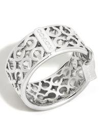 COACH | Metallic Pierced Op Art Band Ring | Lyst