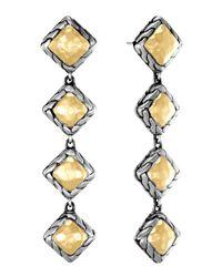 John Hardy | Metallic Palu Squaredrop Earrings | Lyst
