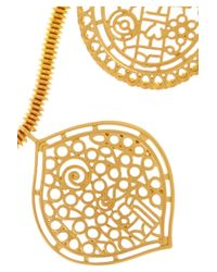 Kenneth Jay Lane - Metallic Goldplated Filigree Necklace - Lyst