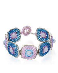 Miguel Ases - Blue Quartz Peacock Bracelet - Lyst