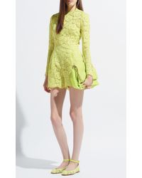 Valentino | Yellow Citron Heavy Lace Jumpsuit | Lyst