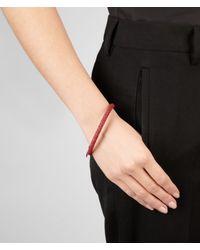 Bottega Veneta - Red Brique Intrecciato Nappa Bracelet - Lyst
