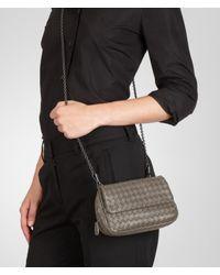 Bottega Veneta Gray Fume Intrecciato Nappa Messenger Mini Bag