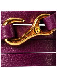 Gorjana - Purple Taylor Mini Leather Five Wrap Bracelet - Lyst