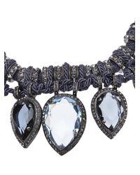 Lanvin - Gray Teardrop Crystal Choker - Lyst
