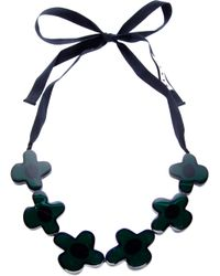 Marni - Black Flower Necklace - Lyst