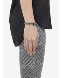 Philippe Audibert - Black Rhinestone-embellished Bead Bracelet - Lyst