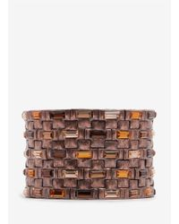 Philippe Audibert | Metallic Square Crystal Nine-row Elasticated Bracelet | Lyst
