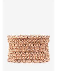 Philippe Audibert | Metallic Luis Ten-row Beaded Elasticated Bracelet | Lyst
