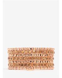 Philippe Audibert - Metallic Three-row Bead And Stone Bracelet - Lyst