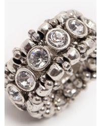Philippe Audibert - Metallic Rhinestone Elasticated Ring - Lyst