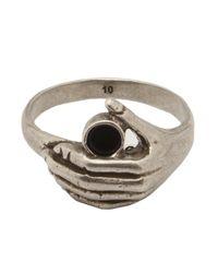 Saint Laurent | Metallic Thin Hand Ring for Men | Lyst