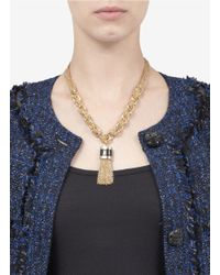 St. John - Metallic Chunky-chain Necklace - Lyst