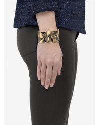 St. John | Metallic Textured Enamel Cuff | Lyst