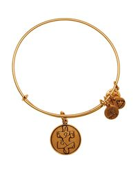 ALEX AND ANI | Metallic Puzzle Piece Bangle, Charity By Design Collection | Lyst