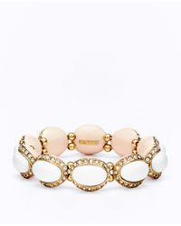 Ann Taylor - White Tropic Stretch Bracelet - Lyst