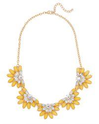 BaubleBar - Yellow Sunflower Collar - Lyst