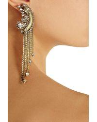 Erickson Beamon - Metallic Glass Pearl Centre Crystal Earrings - Lyst