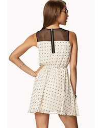 Forever 21 - White Fit Flare Chiffon Cross Dress - Lyst