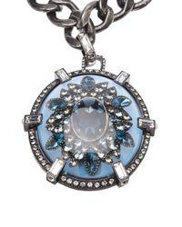 Lanvin | Blue Oval Pendant Necklace | Lyst