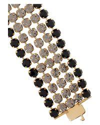 Miu Miu - Metallic Goldplated Crystal Cameo Bracelet - Lyst