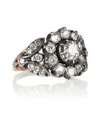 Olivia Collings - Metallic 18karat Gold Silver and Diamond Ring - Lyst