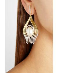 Ana Khouri - Metallic Peacock 18karat Gold Pearl and Diamond Earrings - Lyst