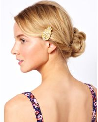 ASOS - Yellow Limited Edition Mini Pearl Hair Brooch - Lyst