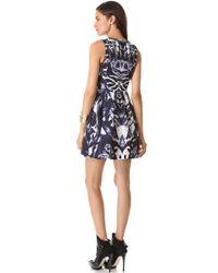 McQ - Blue Kaleidoscope Party Dress - Lyst