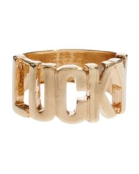 ASOS - Metallic Limited Edition Lucky Ring - Lyst
