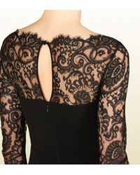 Lyst Gucci Viscose Jersey Dress With Lace Detail In Black