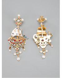 Percossi Papi - Metallic Galleon Earrings - Lyst