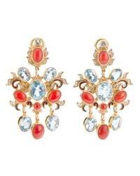 Percossi Papi | Metallic Jewel Drop Earrings | Lyst