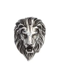 KG by Kurt Geiger - Metallic Reclaimed Vintage Power Lion Ring for Men - Lyst