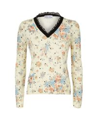 RED Valentino | Multicolor Polka Dot Sweater | Lyst