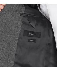 Gucci - Gray Grey Light Jersey Schoolboy Jacket for Men - Lyst