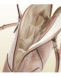 Gucci - Pink Nice Microssima Patent Leather Top Handle Bag - Lyst