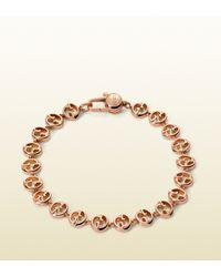 Gucci - Pink 1973 Bracelet In Rose Gold - Lyst
