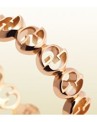 Gucci - Thin Ring in Pink Gold - Lyst