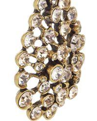 Oscar de la Renta - Metallic Goldplated Crystal Clip Earrings - Lyst