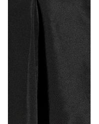 RED Valentino - Black Twill Godet Skirt - Lyst