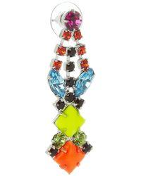 Tom Binns - Multicolor Pendant Crystal Earrings - Lyst
