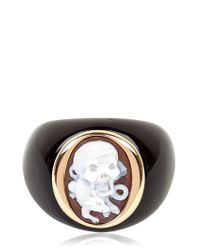 Amedeo | Black Pirate Cameo Ring for Men | Lyst