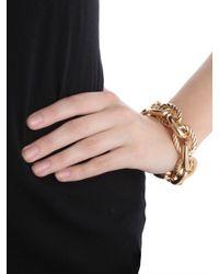 BaubleBar | Metallic Gold Mixed Oval Bracelet | Lyst