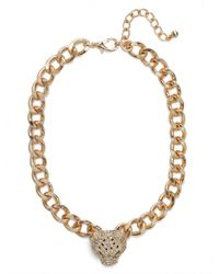 BaubleBar | Metallic Gold Spotted Jaguar Pendant | Lyst
