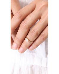 Bing Bang - Metallic Tiny Baguette Ring - Lyst