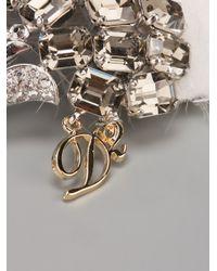 DSquared² - Metallic Art Deco Style Brooch - Lyst